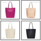 Personalised Leather Tote Bag