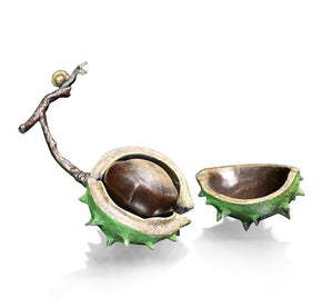 Richard Cooper Bronze Large Conker with Snail  by Michael Simpson