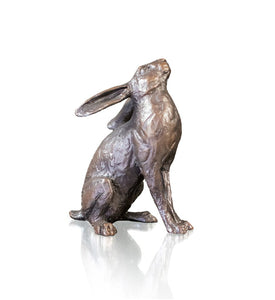 Richard Cooper Bronze World of Bronze Limited Edition Medium Hare Moongazing by Michael Simpson