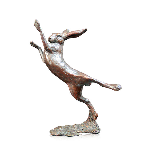 Richard Cooper Bronze World of Bronze Limited Edition Small Hare Boxing by Michael Simpson