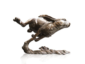 Richard Cooper Bronze World of Bronze Limited Edition Medium Hare Running by Michael Simpson