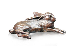 Richard Cooper Bronze World of Bronze Limited Edition Small Hare Lying by Michael Simpson