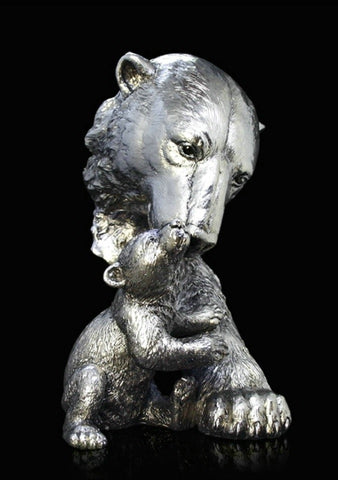 Richard Cooper Studio Polar Bear and Cub by Keith Sherwin