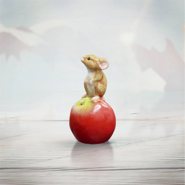 Richard Cooper The Cottage Studio Baby Mouse on Apple by Keith Sherwin