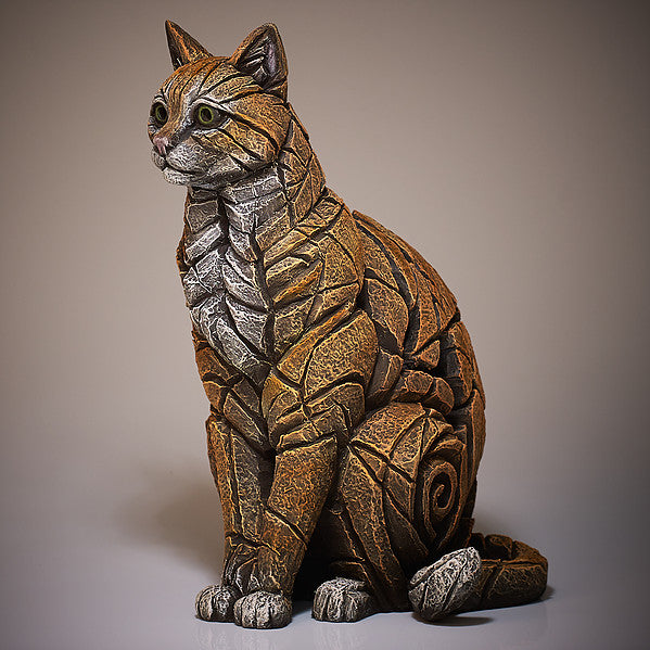 Edge Sculpture Cat Sitting - Ginger by Matt Buckley