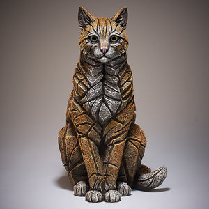 Edge Sculpture Cat Sitting - Ginger
