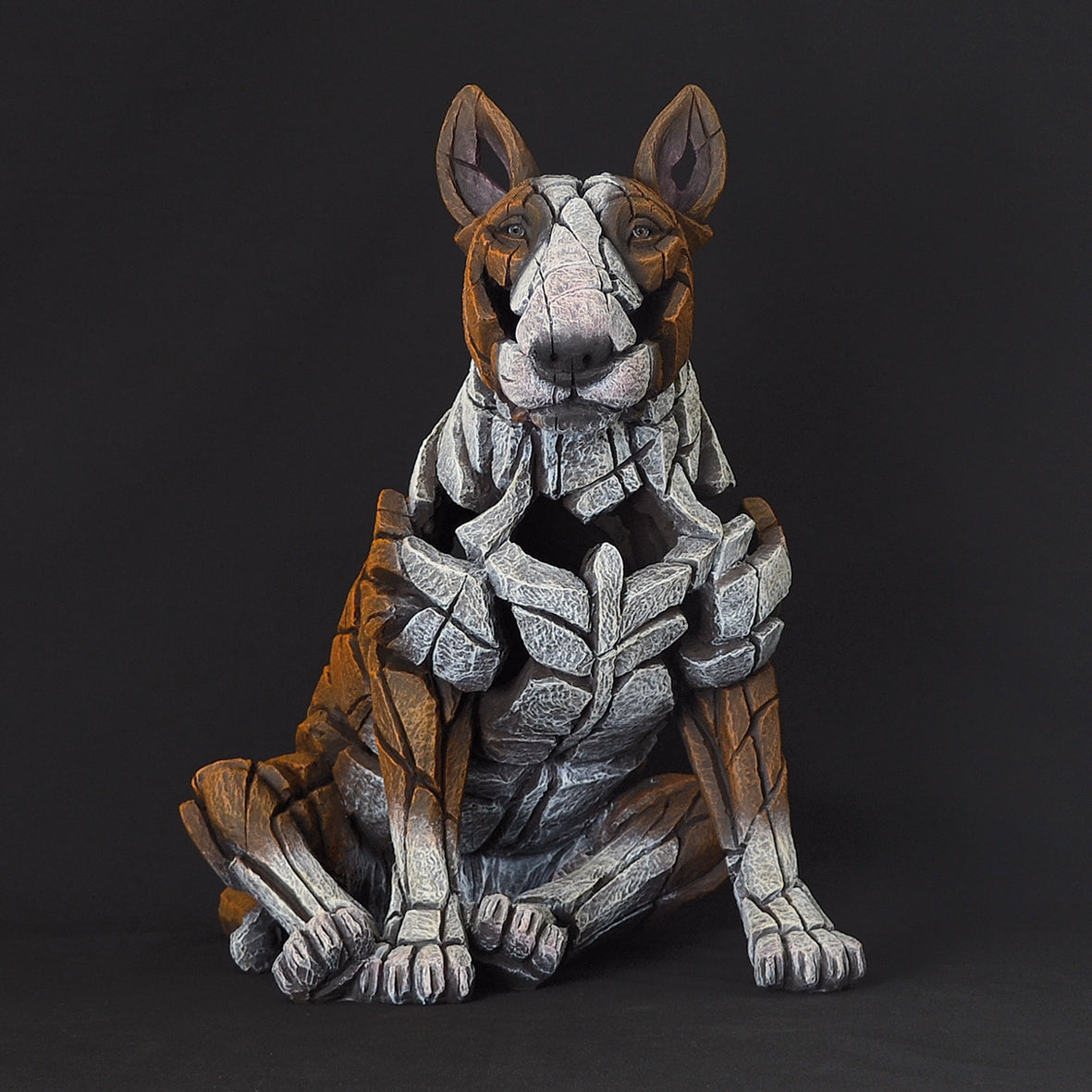 Edge Sculpture Bull Terrier - Red
