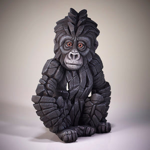 PRE ORDER NOW FOR EARLY MAY Edge Sculpture Baby Gorilla by Matt Buckley
