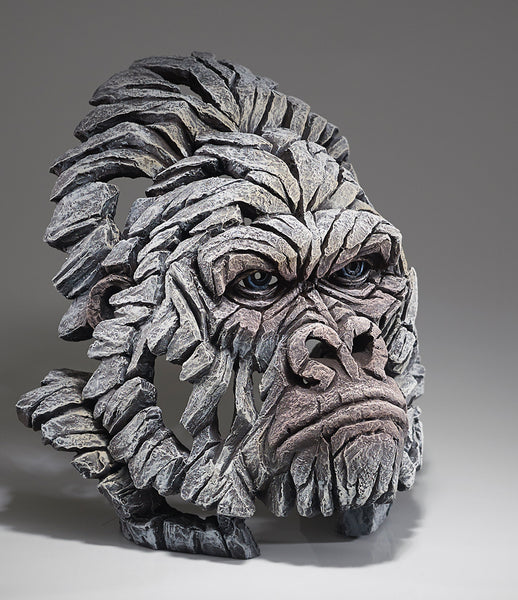 Edge Sculpture Gorilla Bust - White by Matt Buckley