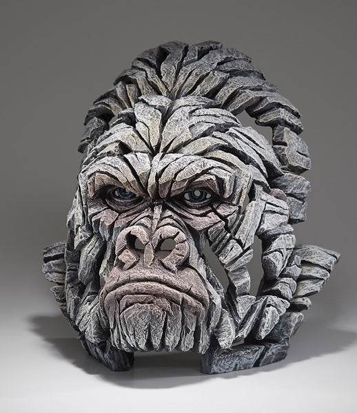 Edge Sculpture Gorilla Bust - White