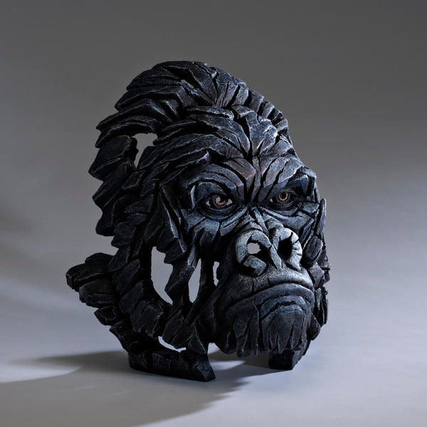 Edge Sculpture Gorilla Bust by Matt Buckley