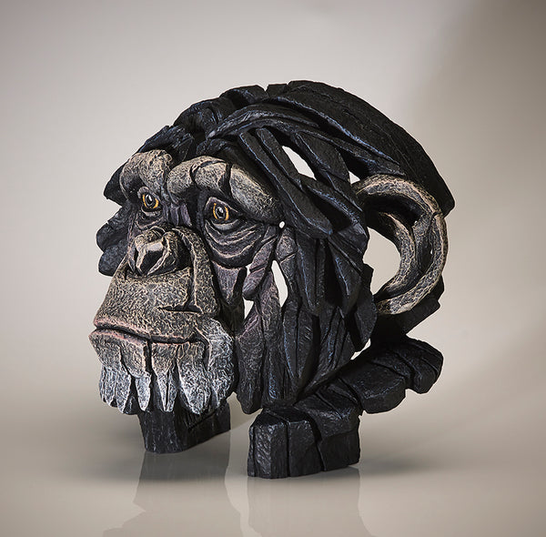 Edge Sculpture Chimpanzee Bust by Matt Buckley