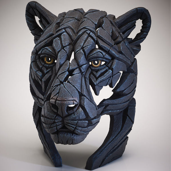 Edge Sculpture Panther Bust by Matt Buckley