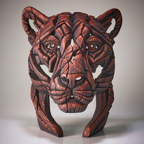 Edge Sculpture Jungle Flame  Panther Bust Limited Edition by Matt Buckley