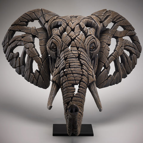 Edge Sculpture African Elephant Bust by Matt Buckley - including Wall Bracket PreOrder for February 2021 Delivery