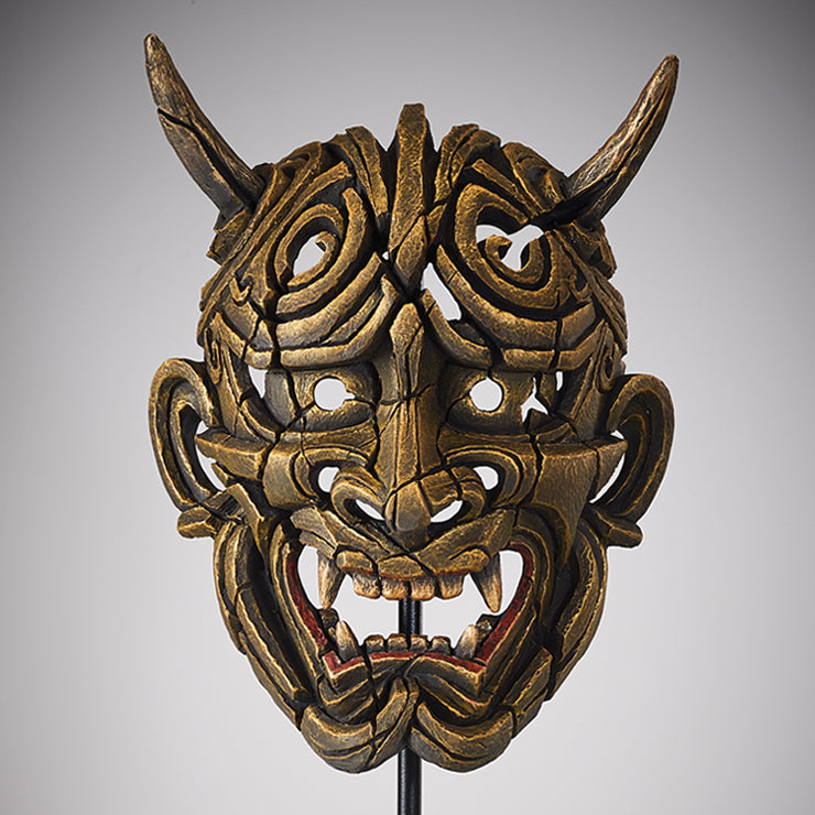 Edge Sculpture Hannya  Mask - Gold by Matt Buckley