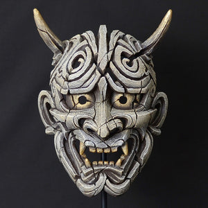 Edge Sculpture Hannya  Mask - Antique White by Matt Buckley