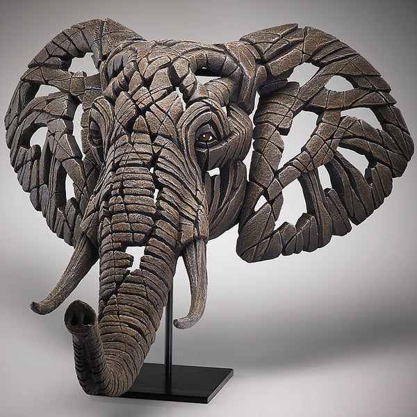 Edge Sculpture African Elephant Bust by Matt Buckley