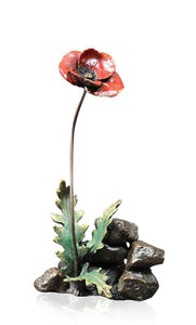 Richard Cooper Bronze by Michael Simpson Personalised Poppy