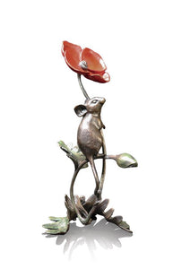 Richard Cooper Bronze by Dean Kendrick Mouse on Poppy