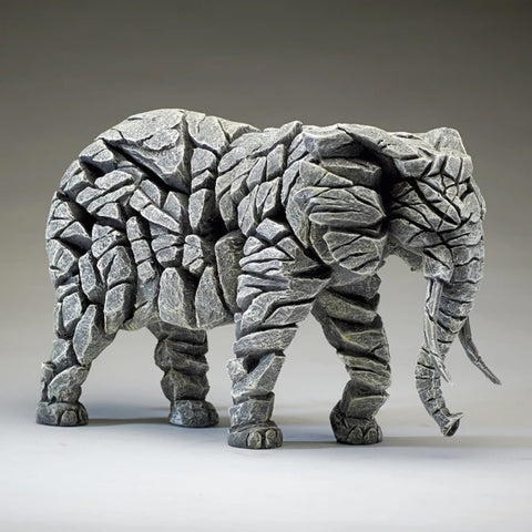 Edge Sculpture Elephant - White by Matt Buckley PreOrder for Feb 2021 Delivery