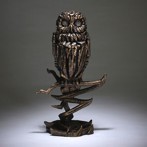 Edge Sculpture Owl - Golden