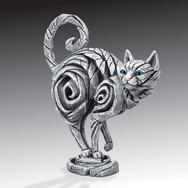 Edge Sculpture Cat - White by Matt Buckley