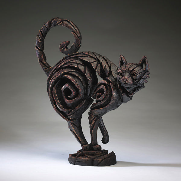 Edge Sculpture Cat - Black by Matt Buckley