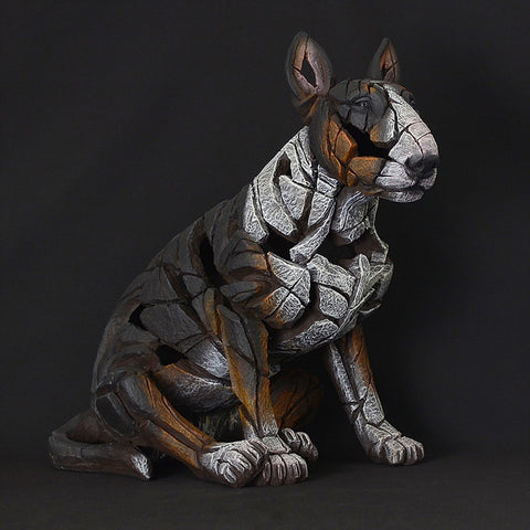 Edge Sculpture Bull Terrier - Tri Colour by Matt Buckley