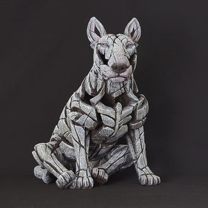 Edge Sculpture Bull Terrier - White by Matt Buckley