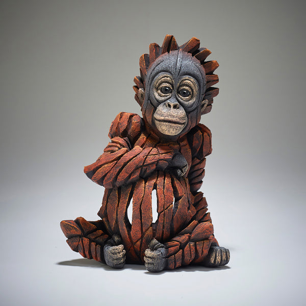 Edge Sculpture Baby Orangutan by Matt Buckley
