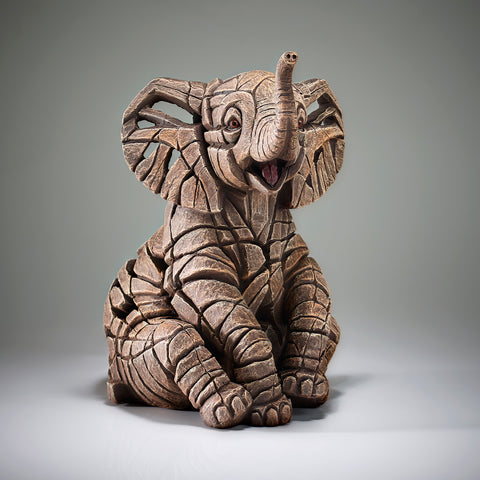 Edge Sculpture Elephant Calf by Matt Buckley