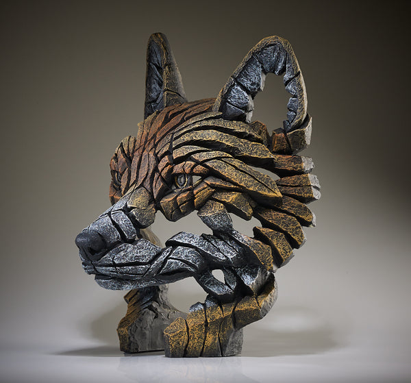 Edge Sculpture Fox Bust by Matt Buckley