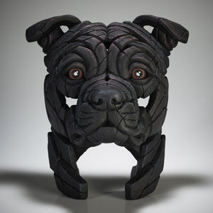 Edge Sculpture Staffordshire Bull Terrier - Black by Matt Buckley