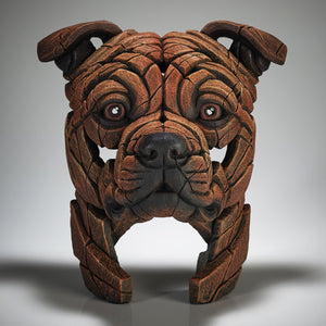 Edge Sculpture Staffordshire Bull Terrier - Red by Matt Buckley