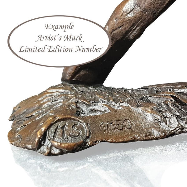 Richard Cooper Bronze World of Bronze Limited Edition Small Hare Listening by Michael Simpson