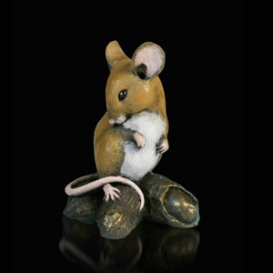 Richard Cooper Studio Cold Cast & Hand Painted Bronze Mouse Monkey Nuts by Michael Simpson