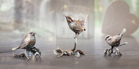 Butler & Peach Garden Birds Trio Collectors Set