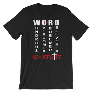 Word Manifested Black T-Shirt