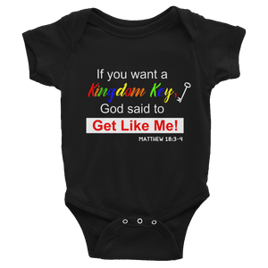 Kingdom Key Rainbow Infant Onesie