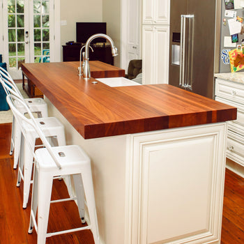 Sapele Wood Kitchen Countertop