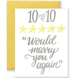 10 Out Of 10 Would Marry You Again Anniversary Card