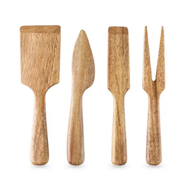 Wood Cheese Knife Set