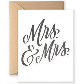 Mrs & Mrs Wedding Card