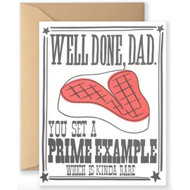 Well Done Dad Prime Example Fathers Day Card
