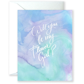 Will You Be My Flower Girl Wedding Card