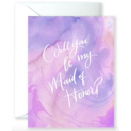 Will You Be My Maid Of Honor Wedding Card