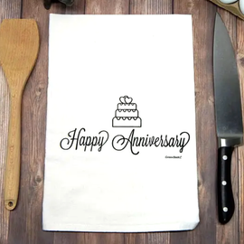 Happy Anniversary Tea Towel