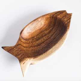 Wood Fish Bowl