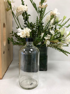 Clear Glass Bottle- 500 ml with cap